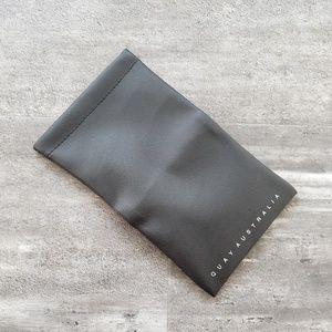 Black Leather Quay Australia Sunglasses Case Pouch